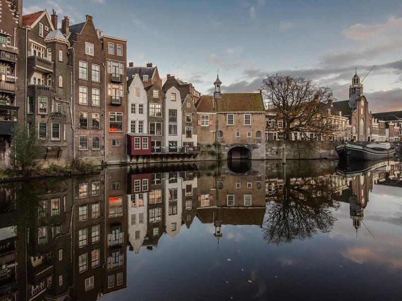 wandeling in historisch Delfshaven in Rotterdam