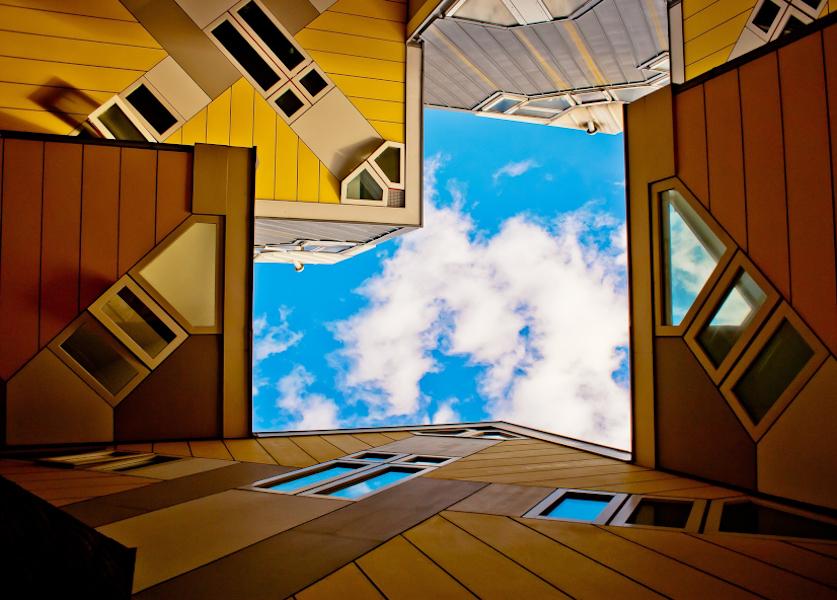 Architectuur kubushuizen rotterdam