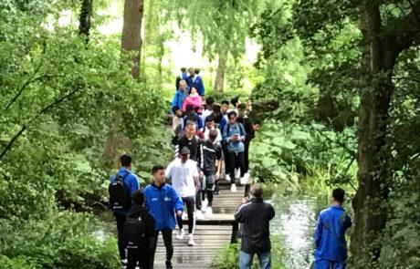 natuur stadswandeling met Leijnse tours in het zochersparkrotterdam
